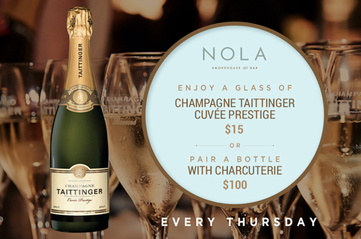 Champagne Taittinger Charcuterie NOLA Smokehouse and Bar
